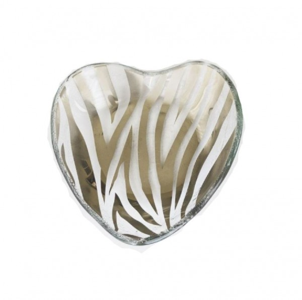 Zebra Platinum Heart Bowl