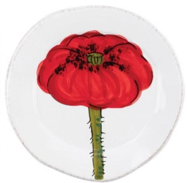 Lastra Poppy Canape Plate Set/4