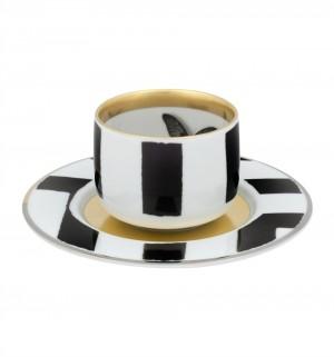 Sol y Sombre Tea Cup and Saucer