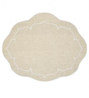 Linho Oval Linen Natural Set/4
