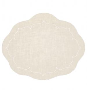 Linho Oval Linen Ivory Set/4