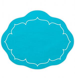 Linho Oval Linen Turquoise Set/4