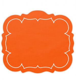 Linho Rectangular Linen Mat Orange Set/4