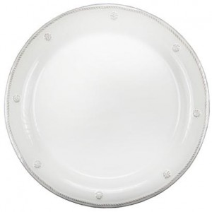 Berry and Thread Round Dessert Plate Whitewash