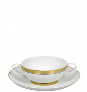 Domo Gold Consomme Cup/Saucer