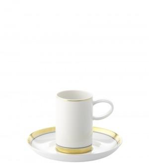 Domo Gold Demi Tasse Cup/Saucer