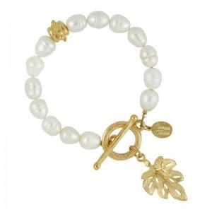 Leaf Pearl Bracelet