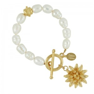 Water Lily Pearl Bracelet