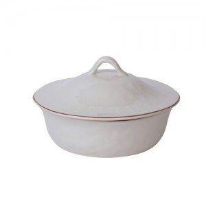 Cantaria Round Covered Casserole White