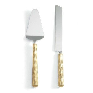 Truro Gold Cake Knife and Server Set