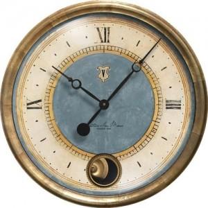 Cafe Venezia Clock Azure