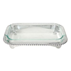 Pearled Oblong Baker/Casserole and Caddy