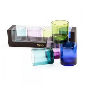 Acrylic Jewel Tone Rock Glass Set/4