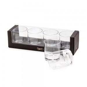 Acrylic Clear Rock Glass Set/4