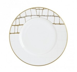 Domenico Vacca Salad Plate Alligator Gold Crystals