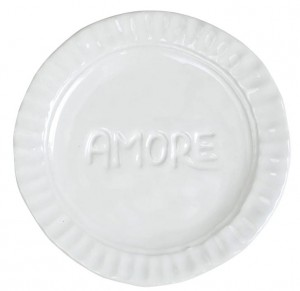 Pietra Serena Amore Plate