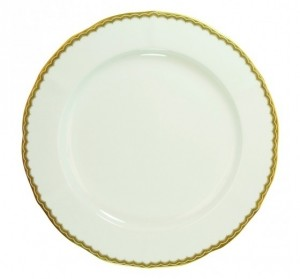 Antique Gold Dinner Plate