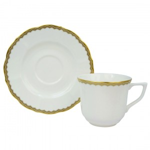 Antique Gold Tea Cup and Saucer