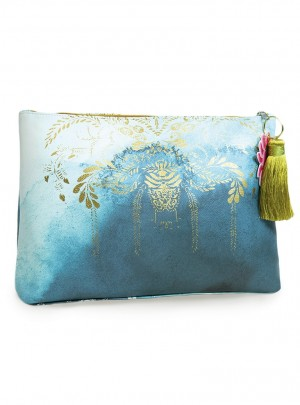 Catalina Watercolor Large Accessory Pouch