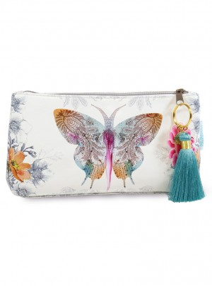 Paisley Butterfly Small Accessory Pouch