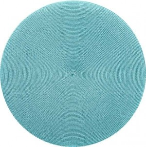 Round Placemat in Aqua Jade