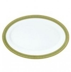 Arcades Green Oval Dish