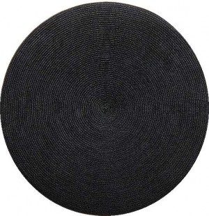 Round Placemat in Black
