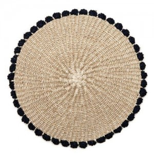 Tahitian Border Placemat in Navy