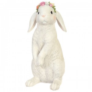 Bunny with Flowers on Head