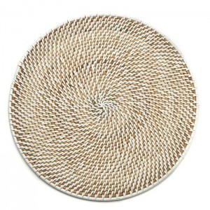 Calypso Rattan Placemat in White