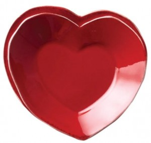 Lastra Red Heart Dish