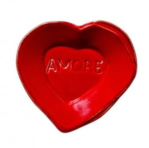 Lastra Red Heart Mini Amore Plate