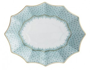 Cornflower Lace Fluted Large Tray