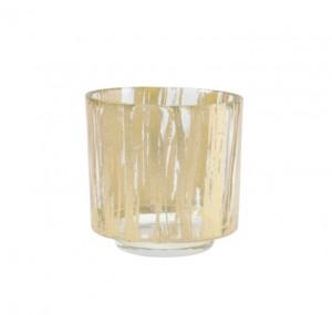 Rufolo Glass Gold Brushstroke Votive