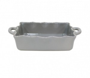 Medium Rectangular Ruffled Baker Gray