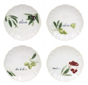 Olivia Canape Plates Set/4