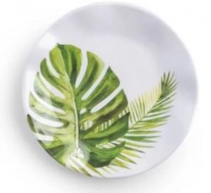 Palm Canape Plate Set/4
