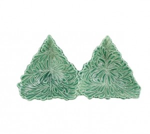 Lastra Holiday Figural Tree Two-Part Server