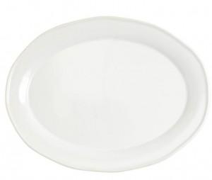Chroma White Oval Platter