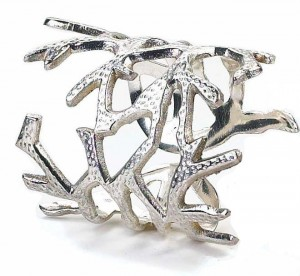 Coral Silver Napkin Ring