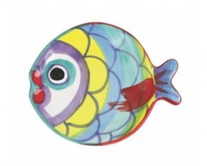 Pesci Colorati Figural Fish Canape Plate