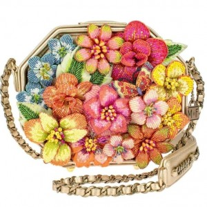 Wild Blossom Embellished Floral Handbag
