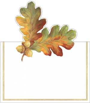 Autumn Leaves Placecards Set of 8