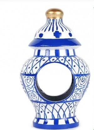 Ginger Jar Napkin Ring Set/4 in Blue and White