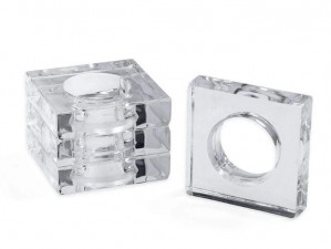 Acrylic Napkin Rings in Crystal Clear Set/4