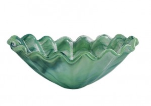 Onda Glass Green Medium Centerpiece