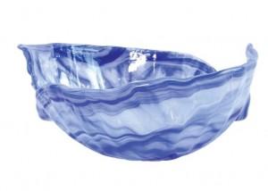Onda Glass Cobalt Round Bowl