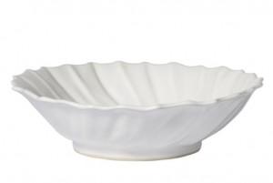 Incanto Stone Ruffle White Large Serving Bowl