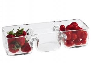 Crystal Three-Section Serving Dish