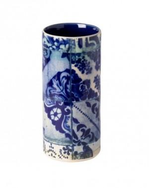 Lisboa Cylinder Vase in Blue